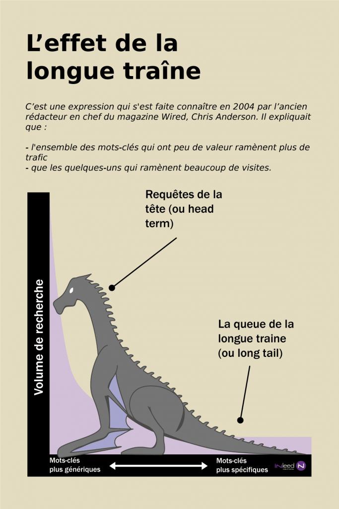 infographie sur la longue traîne