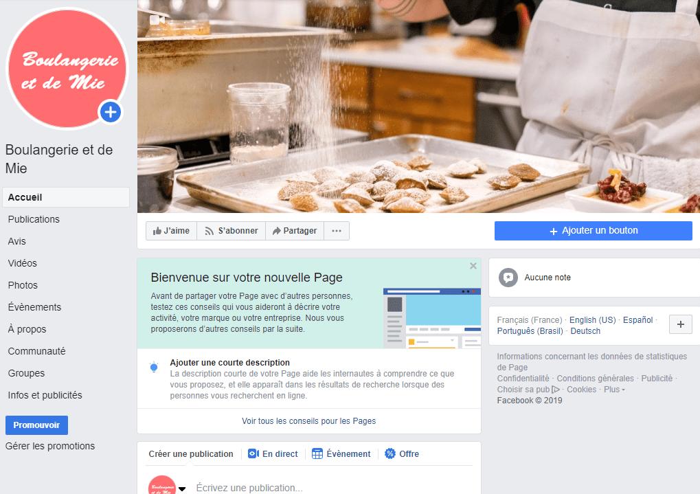 etape 2 - parcourir votre page professionnelle facebook