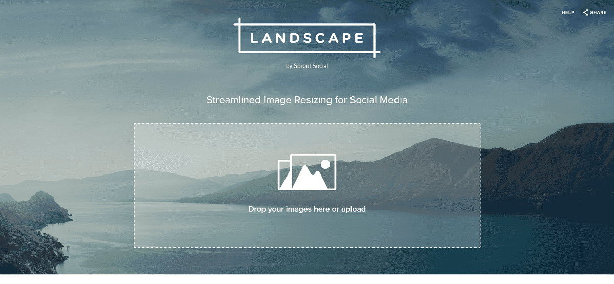 landscape by sprout social pour redimensionner une image pour les reseaux sociaux