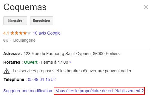 Revendiquer sa page Google My Business
